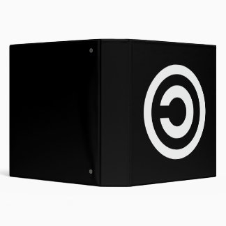 Copyleft - information wants to be free 3 ring binder