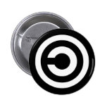 Copyleft - information wants to be free pinback button
