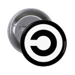 Copyleft - information wants to be free pinback buttons