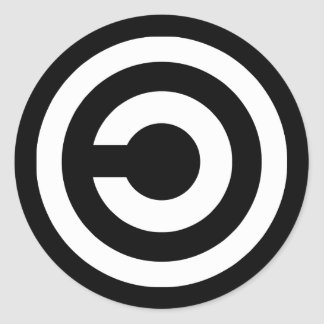 Copyleft - information wants to be free classic round sticker