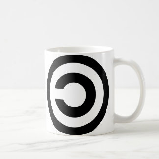 Copyleft - information wants to be free coffee mug