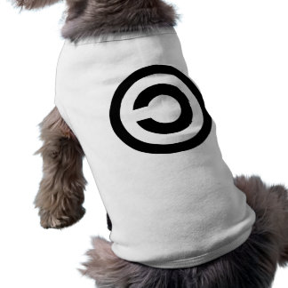 Copyleft - information wants to be free dog tshirt