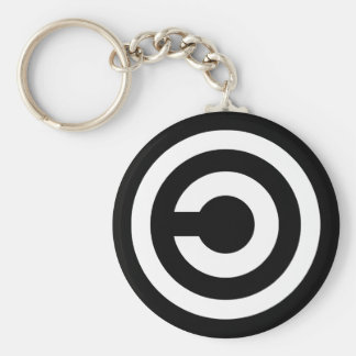 Copyleft - information wants to be free keychain
