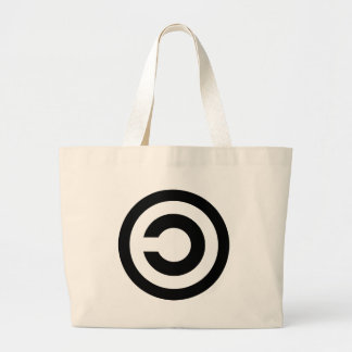 Copyleft - information wants to be free large tote bag