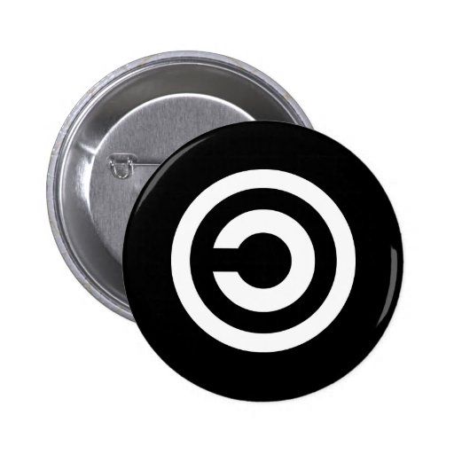 Copyleft - information wants to be free pins