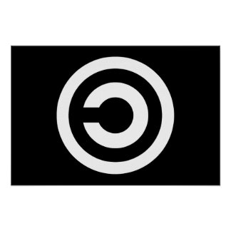 Copyleft - information wants to be free print