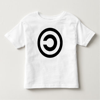 Copyleft - information wants to be free toddler t-shirt