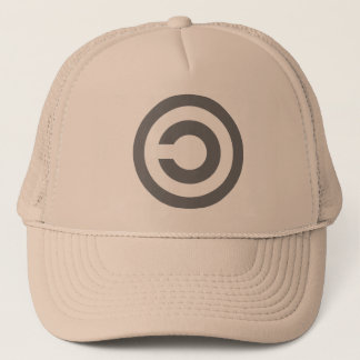 Copyleft - information wants to be free trucker hat