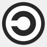 Copyleft - la información quiere estar libre pegatina redonda