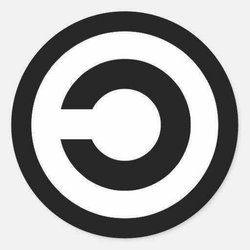 Copyleft - la información quiere estar libre etiquetas redondas