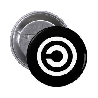Copyleft - la información quiere estar libre pin
