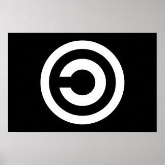 Copyleft - la información quiere estar libre póster