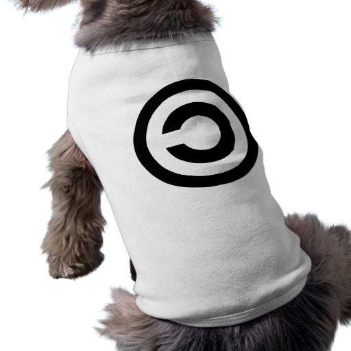 Copyleft - la información quiere estar libre camiseta de mascota