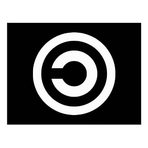 Copyleft - la información quiere estar libre postal