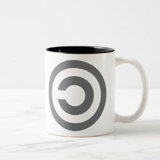 Copyleft - la información quiere estar libre taza de café de dos colores