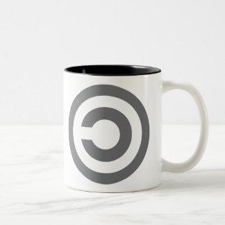 Copyleft - la información quiere estar libre taza de dos tonos