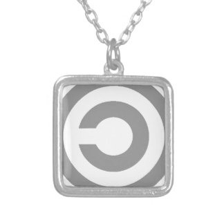 Copyleft Silver Plated Necklace