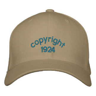 copyright 1924 embroidered hat