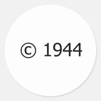 Copyright 1944 pegatina redonda