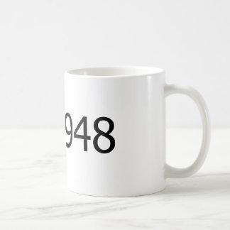 Copyright 1948 classic white coffee mug