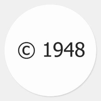 Copyright 1948 pegatina redonda