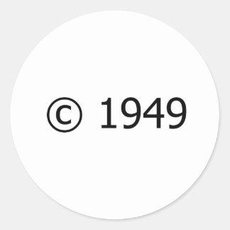Copyright 1949 pegatina redonda