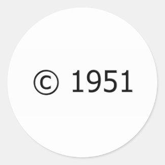 Copyright 1951 classic round sticker