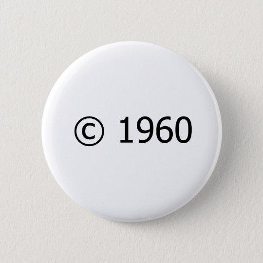 Copyright 1960 pinback button