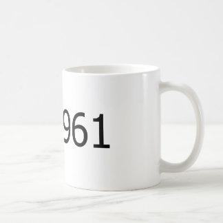Copyright 1961 classic white coffee mug