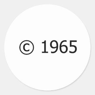 Copyright 1965 pegatina redonda