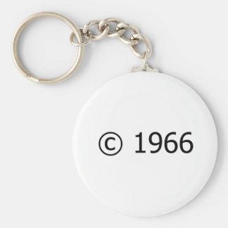 Copyright 1966 basic round button keychain