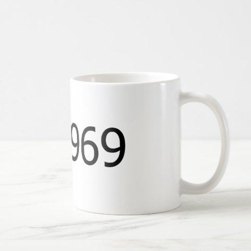 Copyright 1969 classic white coffee mug
