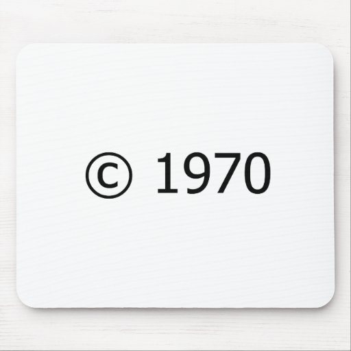 Copyright 1970 tapete de ratones