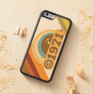 Copyright 1971 - Wood Phone Case Carved® Maple iPhone 6 Bumper Case