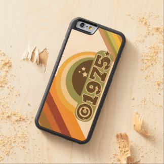 Copyright 1975 - Wood Phone Case Carved® Maple iPhone 6 Bumper Case