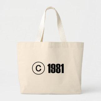 Copyright 1981 canvas bags