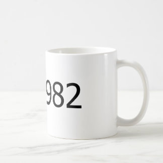 Copyright 1982 taza de café