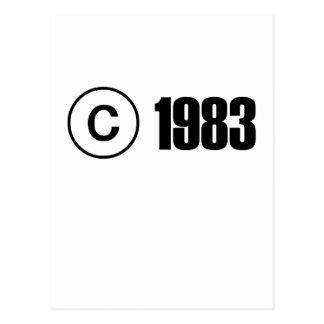 Copyright 1983 postales