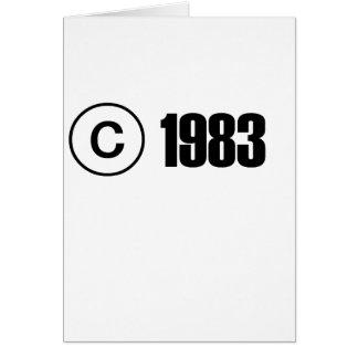 Copyright 1983 tarjeta de felicitación