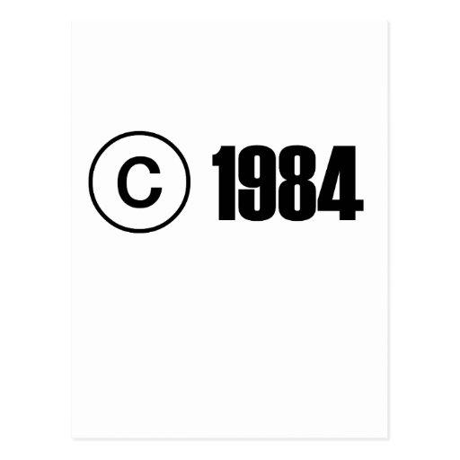 Copyright 1984 tarjeta postal
