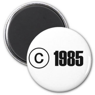 Copyright 1985 magnet