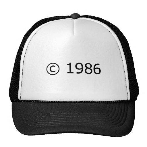 Copyright 1986 gorras de camionero