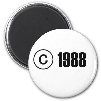 Copyright 1988 2 inch round magnet