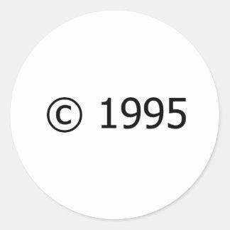 Copyright 1995 pegatina redonda