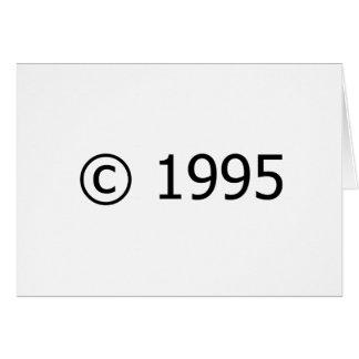 Copyright 1995 tarjeta de felicitación