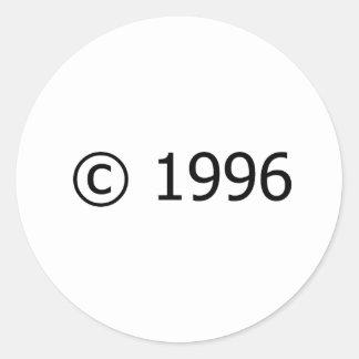 Copyright 1996 pegatina redonda