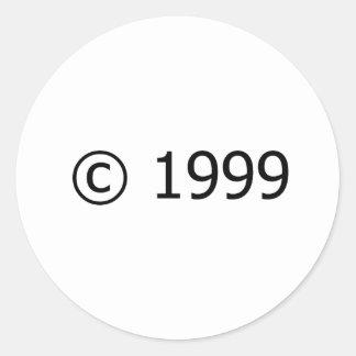 Copyright 1999 pegatina redonda