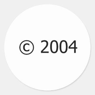Copyright 2004 pegatina redonda