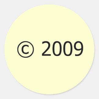 Copyright 2009 pegatina redonda