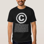 Copyright - All rights reserved and disclaimers. Tshirts